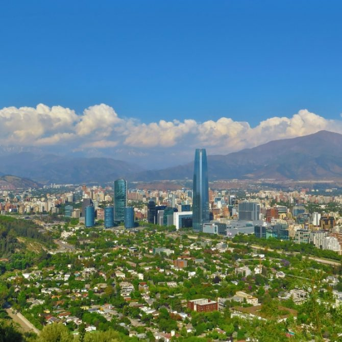 Santiago With Mountains In The Background Chile 800